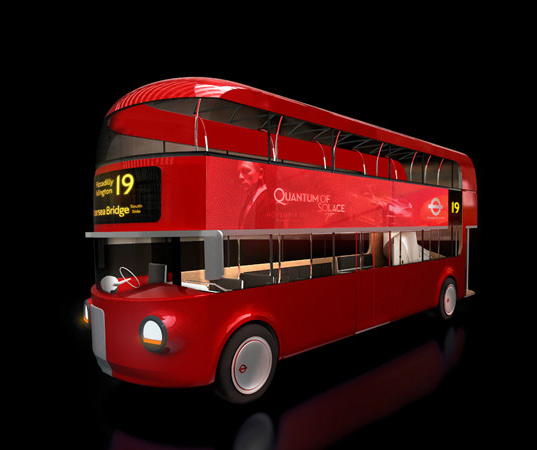 london double decker bus, foster bus, foster + partners bus, aston martin bus, transport for london bus, green bus, winner transport for london, solar panels bus