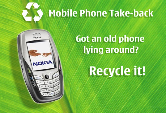 NOKIA RECYCLING TAKE BACK PROGRAM LAUNCHES IN NYC, Nokia environmental responsibility, nokia goes green, nokia eco-friendly, green gadgets, green consumer electronics, recycling your consumer electronics