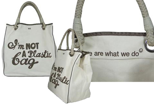 is it green designer tote bags, sustainable design, greenwashing, green design, eco-friendly tote bags, sustainable style, sustainable accessories, plastic bags, conspicuous consumption
