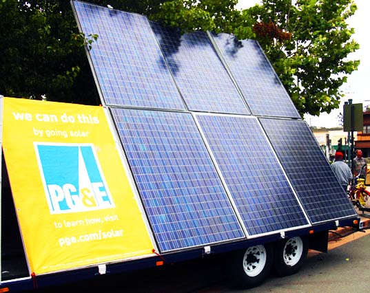 sustainable design, green design, novato wine festival, pg&e, solar powered stage, clean renewable energy, pacific gas and electric