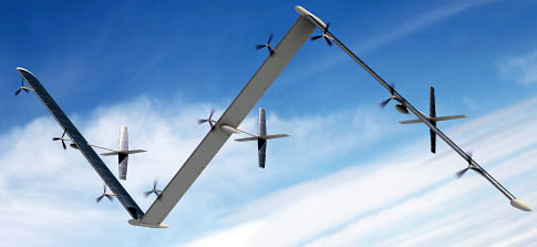 Odysseus solar powered airplane, sustainable design, green design, transportation, solar plane, solar-powered plane, Aurora Flight Sciences, solar surveillance plane, plane with solar panels