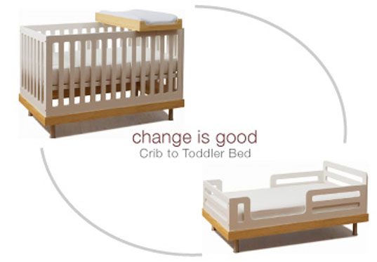 Oeuf Eco-friendly Convertible Crib, Sustainable Kids Furniture, Sustainable Baby Furniture, Moderntots, Inhabitots, Toddler Bed Conversion Kit, Convertible crib, Convertible Crib, Toddler Bed, Sustainable Furniture