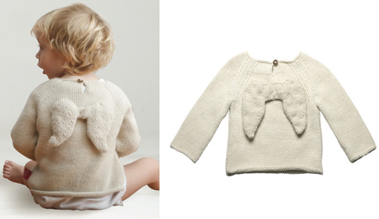 alpaca knit sweaters, baby eco knits, fair-trade knits, green baby costumes, green costume ideas, green costumes, green halloween ideas, Oeuf, Oeuf angel wing sweater, Oeuf designs, Oeuf knits, Oeuf NYC, sustainable style babies