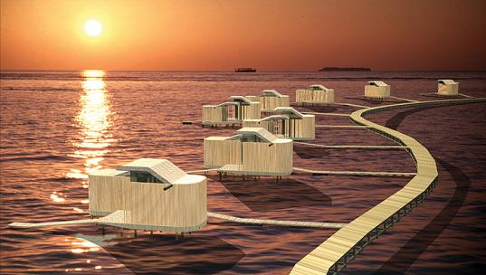 Ofis unveils 4 self sustaining islands in maldives for Self sustaining pool