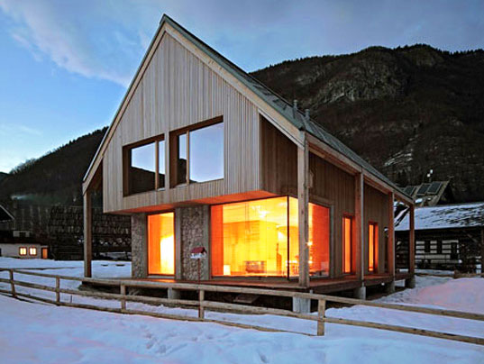 Ofis modern reinterpretation of an alpine classic inhabitat sustainable design innovation - Chalet modern design ...