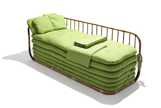 sustainable design, green design, copenhagen design week, its a small world, danish design, products, furniture, Ole Jensen and Claus Molgaard sofa bed