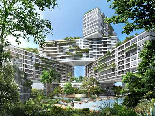 The Interlace by OMA, the interlace, OMA, singapore, rooftop gardens, solar passive design, apartment complex, eco friendly apartments, green apartment building, green rental buildigns, eco-friendly housing