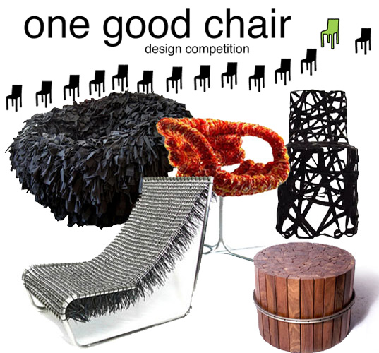 One Good Chair Competition, Lance Hosey, Cradle to Cradle, eco design, green design, sustainable design, green chair, eco chair, sustainable chair, eco furniture design, environmental furniture, green furniture design, sustainable furniture design, Chair design competition, chair contest, Top 5 Chairs made from trash, Top Five Chairs made from trash