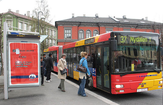 oslo city bus, renewable energy, poo power, methane fuel, green design, sustainable city, norway poo power bus