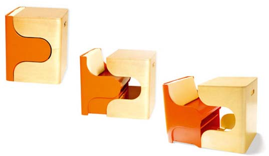 Pkolino Kilck Puzzle Chair, Children's Furniture, Puzzle Chair, Children Play Table