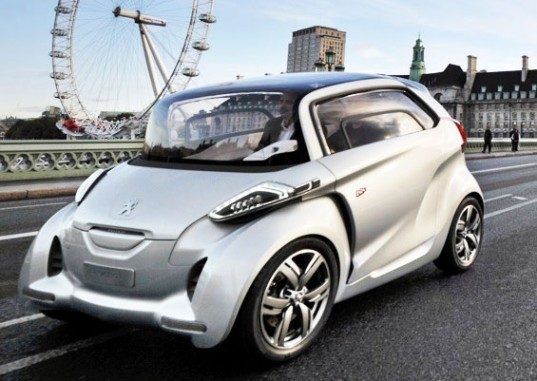 sustainable design, green design, peugeot bb1, alternative transportation, plug in electric vehicle, solar roof, scooter car