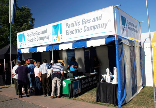 PG&E's booth at the Marin County Fair