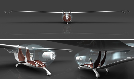 Oriens Glider, Roland Cernat, alternative energy, solar power, efficient airplane, cradle-to-cradle, cradle-to-cradle design, Lucky Strike Junior Designer Award, recyclable materials, organic design, biomimicry, cernatglider2
