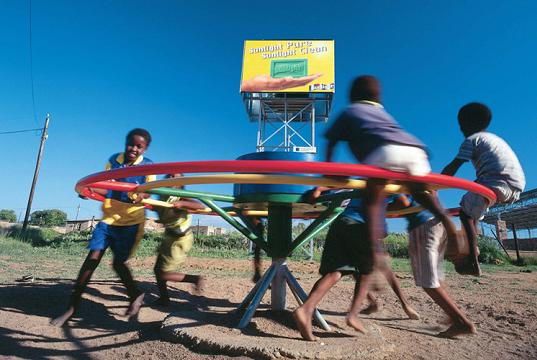 Play pump, merry-go-round water pump, fresh water, water rights, water issues, playpump, PlayPump, Lusaka, Zambia, Design for the other 90%, humanitarian design, Regiment Basic Primary School, PlayPump International