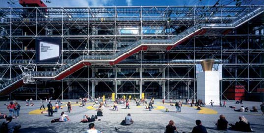Pompidou Centre France Paris Rogers Pritzker
