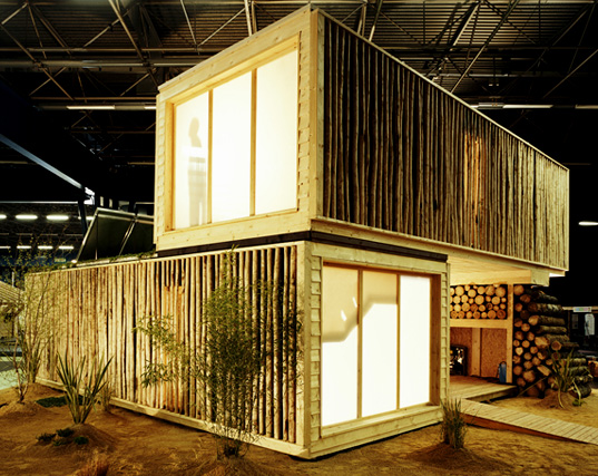 prefab friday inhabitat, Maison EvolutiV prefab, Olgga Architects, wooden modular buildings, prefabricated architecture, prefab structures, Salon Europeen du Bois