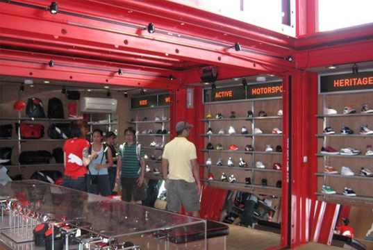 Do It Yourself Home Design: Puma City Shipping Container Store Comes To Boston's Fan