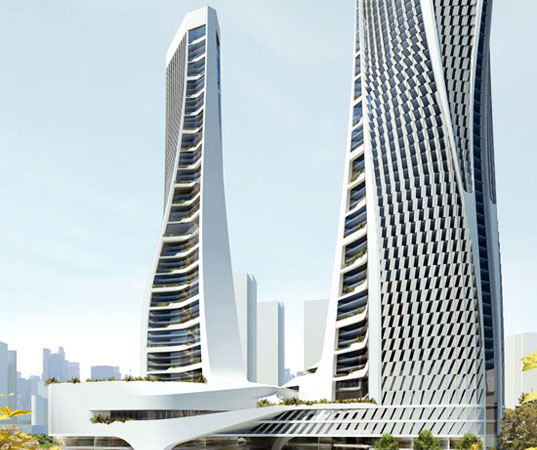 sustainable design, green building, green design, mixed-use, skyscraper, china, hangzou, LEED, urban design