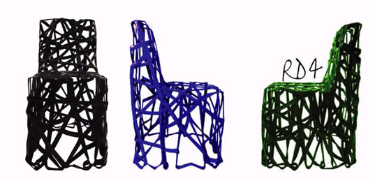 Cohda RD4 Recycled Plastic Chair, Cohda Recycling Design Exhibition, U.R.E Sketch
