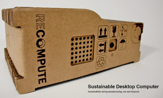 recompute, greener gadgets design competition, sustainable design, greed technology, sustainable computer, cardboard computer case, e-waste reduction