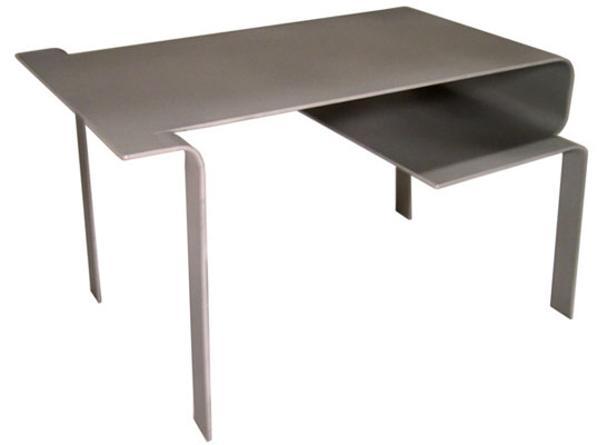 reform_frog_table, Reform Furniture, Vivavi, one-piece flat packed aluminum, folded furniture, origami furniture