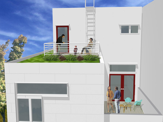 rock row, leed for homes, sustainable housing, affordable green housing, green architecture, leed certified residences, los angeles, heyday partnership