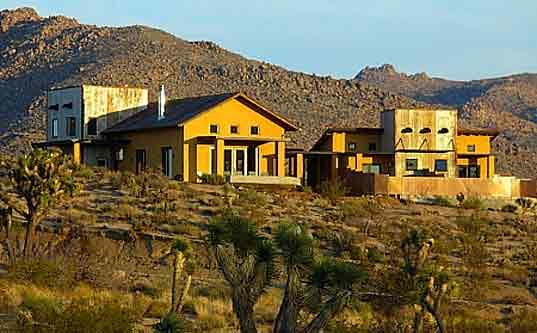 Sacred Sands Resort, Joshua Tree California, eco-travel, straw bale construction, green building, desert architecture