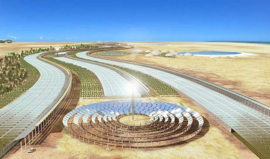 sahara forest innitiative, solar power for the world, sahara solar power, sahara green solutions, powering africa, sahara desalination plant, combination of green technologies