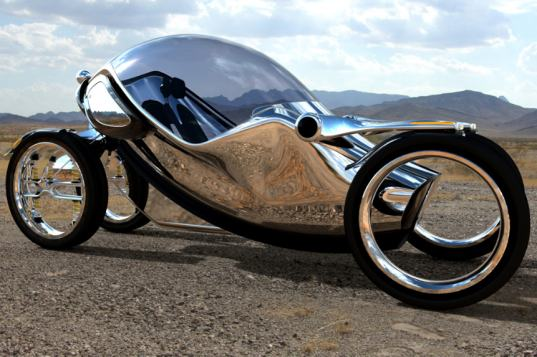 The Sleek Shape-Shifting Scarab Vehicle