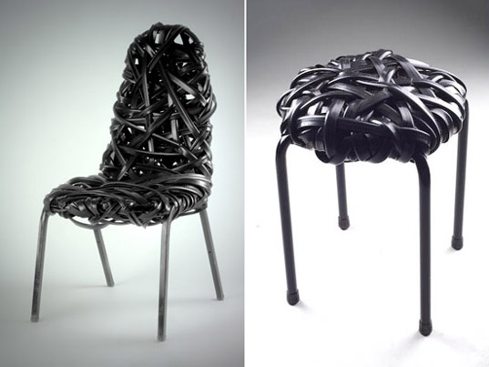 Black Nest by Scrap Lab, scrap lab, scraplab, scrap funiture, eco furniture, recycled materials furniture, re-purposed materials furniture, industrial scraps furniture, industrial waste furniture, eco friendly furniture, green furniture, leftover materials furniture