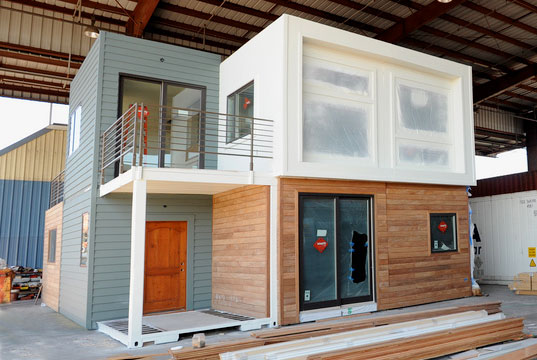 Sg blocks container house debuts at west coast green inhabitat sustainable design innovation - Shipping container homes cost to build ...