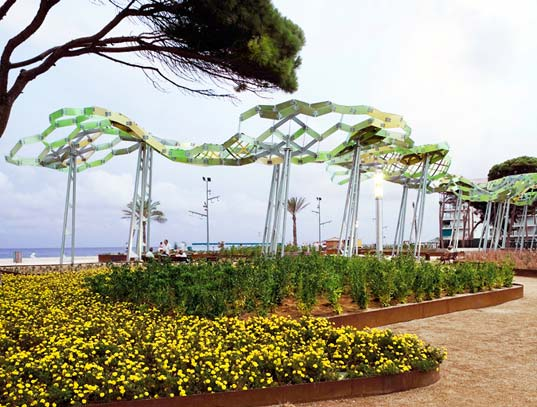 arteks arquitecture, tree shade structure, shade structure, shade structure mimic tree, beach park design, coastal park design, tree branching structure, canopy pattern study, canopy structure study, branching structure study