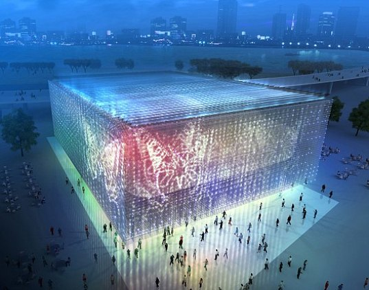 shangai, shanghai pavilion, world expo, world expo 2010, recycled materials, recycled plastic, LED, solar energy, rainwater