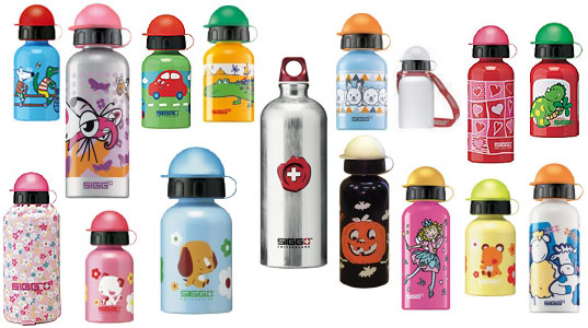 sigg bottles, eco-friendly water bottle, sustainable water bottle, aluminum water bottle, travel container, eco travel, eco kids, green kids containers