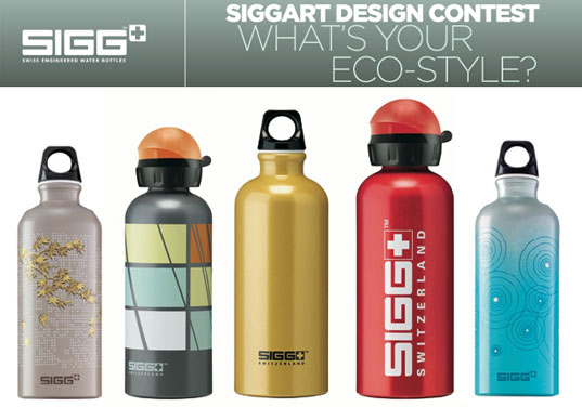 SIGG, SIGG water bottles, SIGGART, SIGG competition, aluminum water bottle, eco friendly water bottle, green water bottle, reusable water bottle, bottle design competition