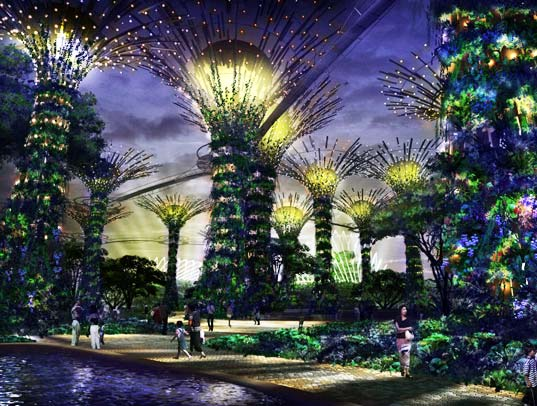 sustainable design, green design, green building, architecture, singapore's largest garden project, solar super-trees, botanical gardens, Bay South by Grant Associates