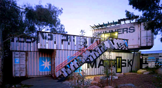 Phooey Architects Melbourne, Phooey Architects Australia, Phooey Architects Skinner Playground, Phooey Architects shipping container playground, repurposed shipping containers, material reuse, shipping container reuse, recycled materials playgrounds, Adventure playgrounds Australia