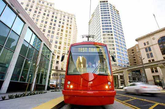 Seattle Streetcar, South Lake Union Trolley, Mayor Greg Nickels, Seattle, Washington, public transit, Denny Triangle, Westlake Center, slut_2.jpg