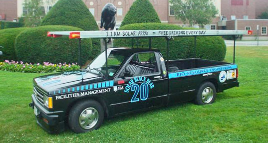 solar black bear, eco ride, car, retrofit, transportation, biodiesel