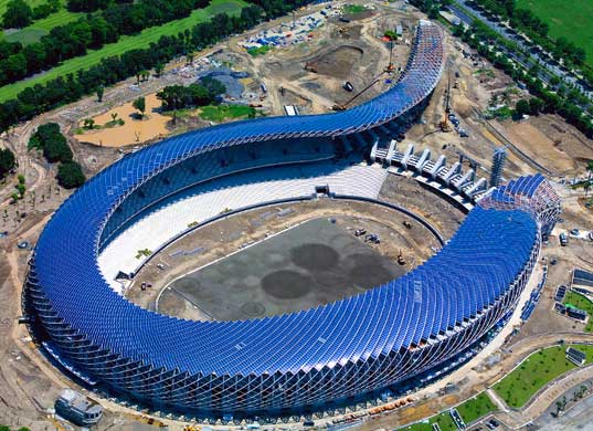 sustainable design, green design, toyo ito, solar powered stadium, alternative energy, solar panels, energy efficient, green building, sustainable architecture