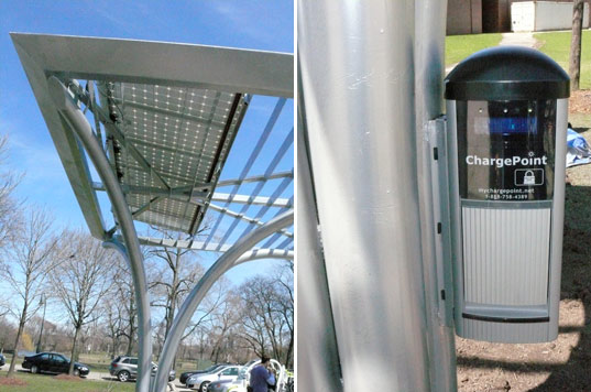 charge point solar station, chargepoint, electric plug-in vehicles, electric vehicle, solar power, solar station