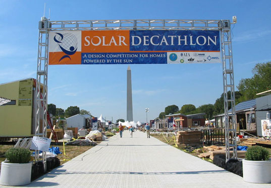 solar decathlon, solar design competition, zero-energy design competition, solar powered house, solar architecture, Solar Decathlon 2007, photovoltaics, solar power, Washington DC Mall