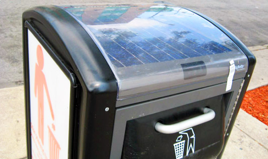 sustainable design, green design, philadelphia, big belly, solar compacting trash cans, alternative energy, waste reduction, green technology