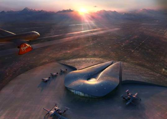 spaceport, space, airplanes, space shuttles, foster, sustainable, platinum, leed, renewable