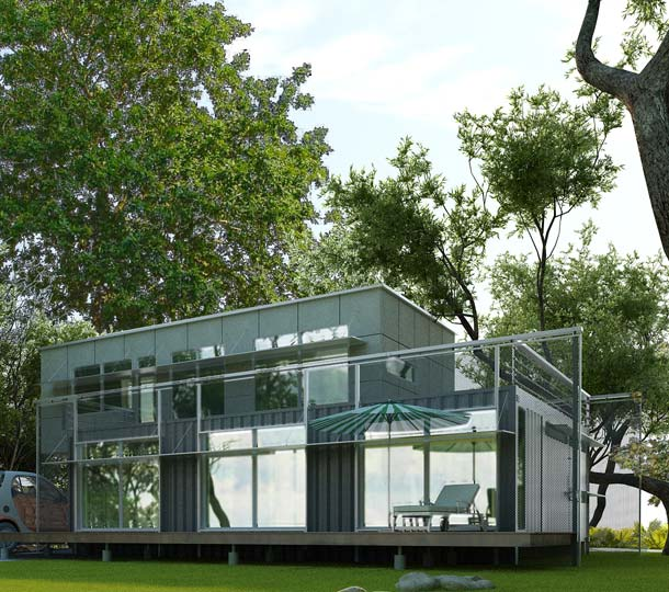 Spoorhouse, benno van noort, van noort designs, Winner of Lifecycle Building Challenge, lifecycle building competition, sustainable building, prefab homes, prefab house