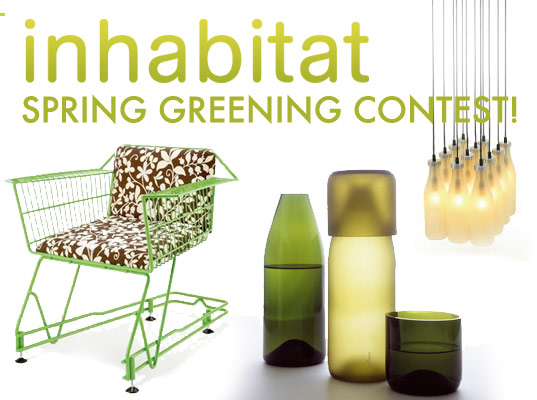 Inhabitat Spring Green Contest, Spring Cleaning contest, Spring Cleaning and greening Contest, Inhabitat spring reuse contest, inhabitat spring recycling contest, sustainable design, green design, recycled materials, waste reduction, found design, repurpose, refinish, reuse