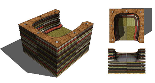 CARPET SQR'D CHAIR made from upcycled design samples | Inhabitat ...