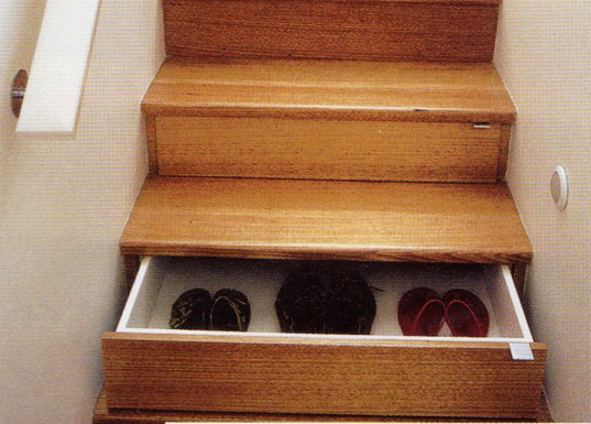 Under stair storage, staircase storage, Unicraft joinery, space saving solution, small spaces storage