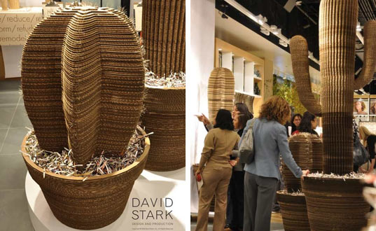David stark s incredible recycled cardboard creations for West materials things