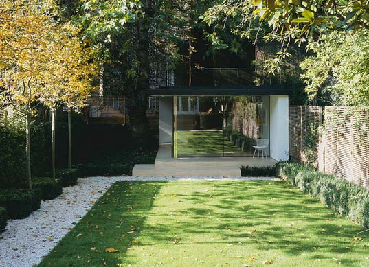 sustainable design, green design, architecture, building, prefab architecture, garden sheds, barcelona pavilion, stiff and trevillion